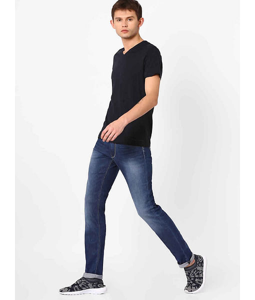 Men's Anders K Slim Fit Blue Jeans