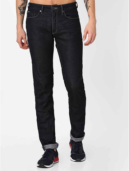 Men's Morris Straight Fit Dark Blue Jeans