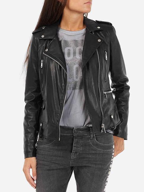 Women's full sleeves Merry biker jacket