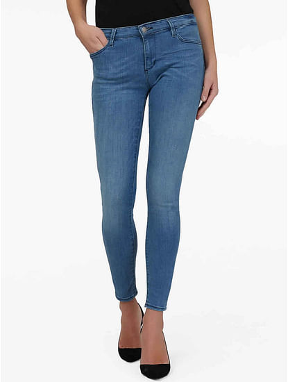 Women's mid wash skinny fit Star jeans