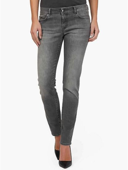 Women's slim fit medium wash Britty up jeans