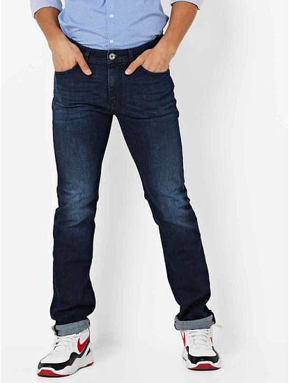 Men's Memphis Straight Fit Dark Blue Jeans