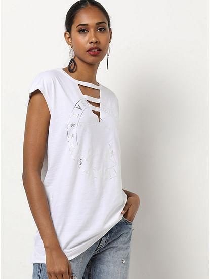 Women's slim fit V-neck half sleeves Figen everything top