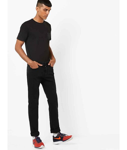 Men's Albert Simple Slim Fit Black Jeans