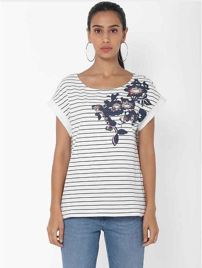 Women's regular fit round neck half sleeves embellished Jusye sequins