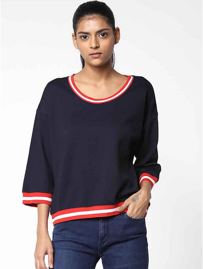 Women's regular fit round neck 3/4th sleeves Lillis top