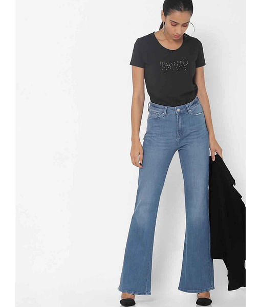 Women's Camilia X mid wash flared jeans
