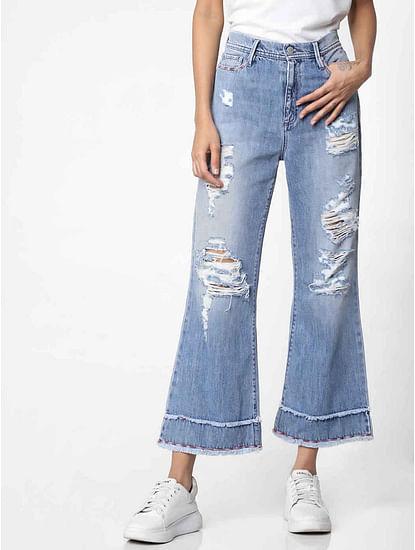 Women's mid rise flared Meryl summer jeans