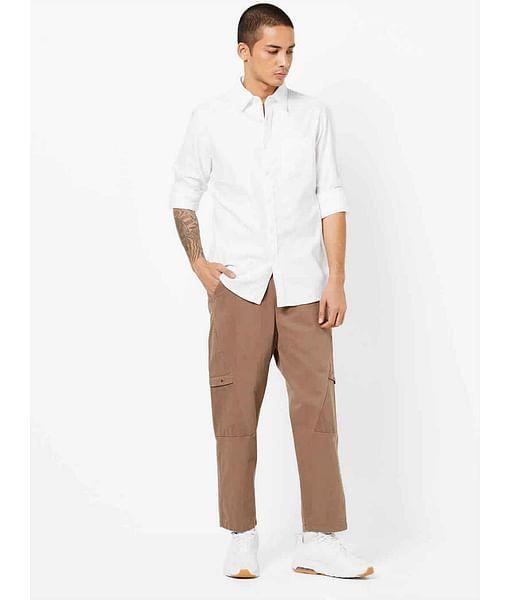 Men's Flix C/8 solid white shirt