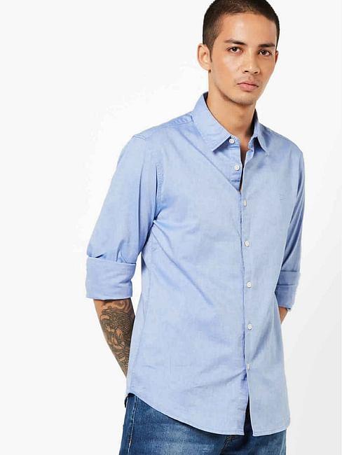 Men's Sir Det solid oxford light blue shirt