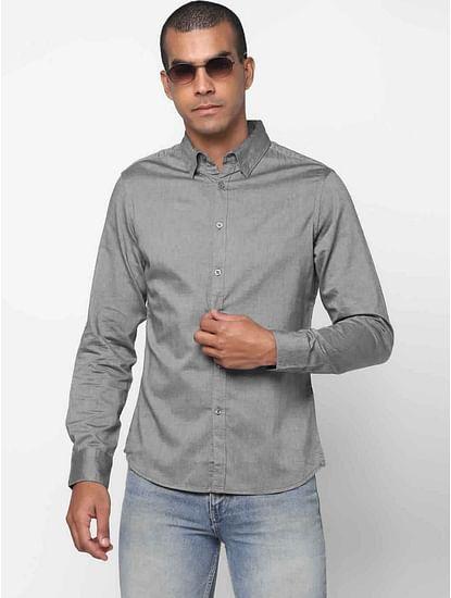 Men's Andrew mix solid black shirt