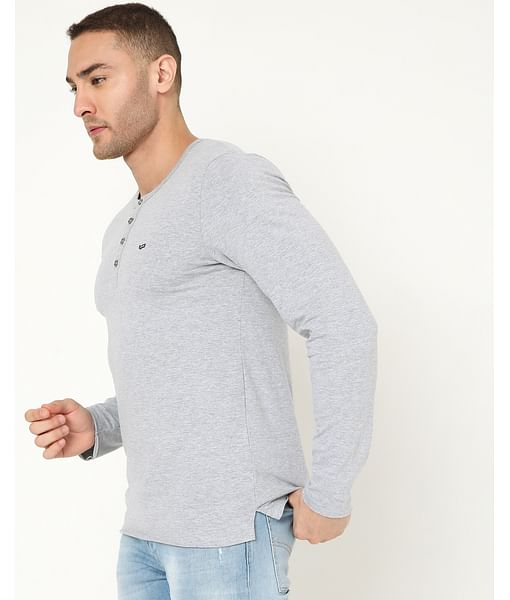 Men's Kazuki Ec In Slim Fit Solid Tshirt