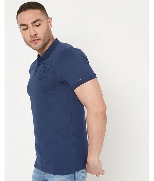 Men's Ralph Emboss Ec In Slim Fit Solid Polo
