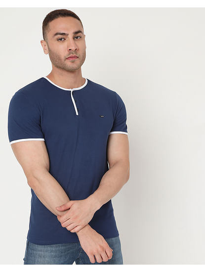 Men's Luke Hem Ec In Slim Fit Solid Polo
