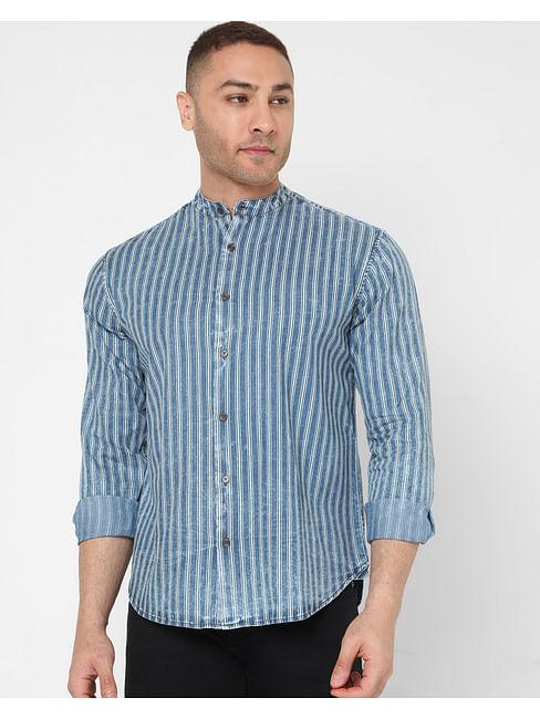 Men's Morty Ec In Slim Fit Striped shirt