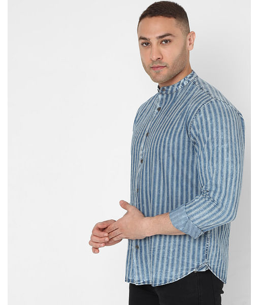 Men's Morty Ec In Slim Fit Striped shirt