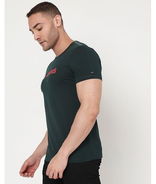 Men's Scuba Con Ec In Slim Fit Printed Tshirt