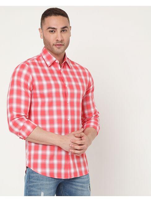 Men's Sir Det Ec In Slim Fit Checkered shirt