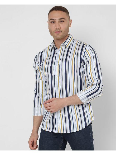 Men's Sir Det Ec In Slim Fit Striped shirt