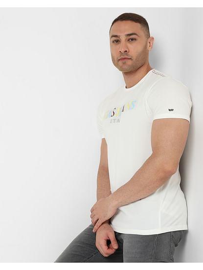 Men's Scuba Ran Ec In Slim Fit Printed Tshirt
