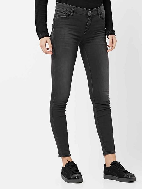 Women's Star motion mid wash skinny fit jeans
