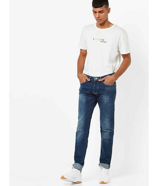 Men's Mitch Straight Fit Mid Blue Jeans