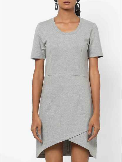 Women's slim fit round neck half sleeves Lellys t-shirt dress