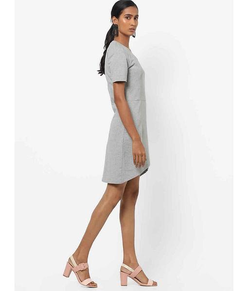 Women's slim fit round neck half sleeves Lellys t-shirt dress