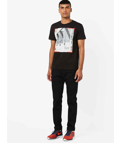 Men's Dasky printed black t-shirt
