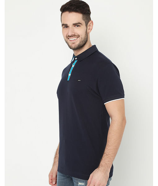 Men's Agap/S Navy Blue Polo