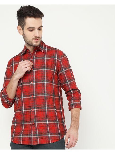 Men's Sir Det Red Checked Shirt