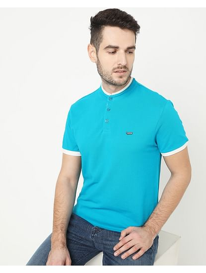Men's Luke Basic Turquoise Polo