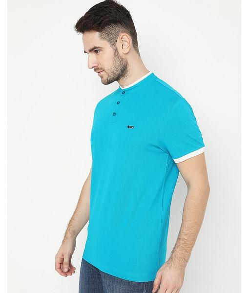 Men's Luke Basic Turquoise Polo