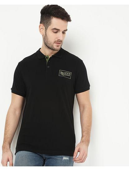 Men's Ralph Badge Black Polo