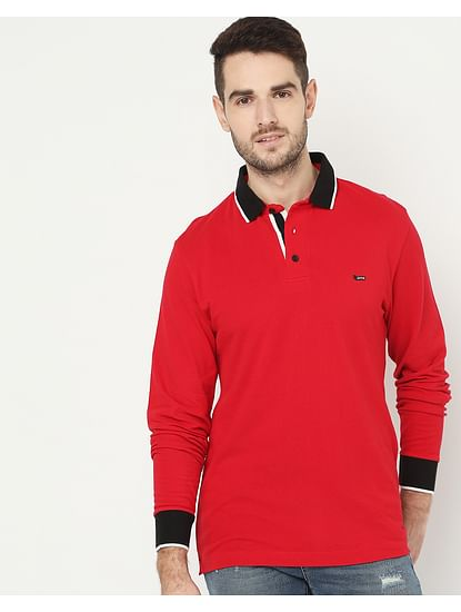 Men's Ralph/S Full Sleeve Red Polo