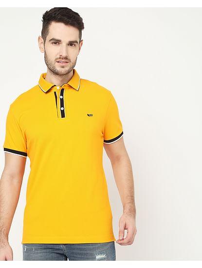Men's Agap/S Yellow Polo