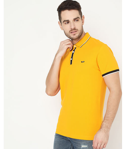 Men's Agap/S Yellow Polo