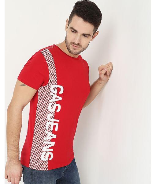 Men's Scuba Place Red Crew Neck T-Shirt