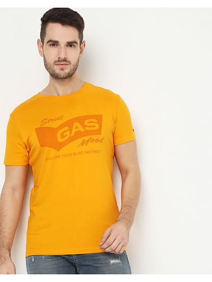 Men's Scuba Tone Yellow Crew Neck T-Shirt