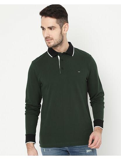 Men's Ralph/S Full Sleeve Green Polo