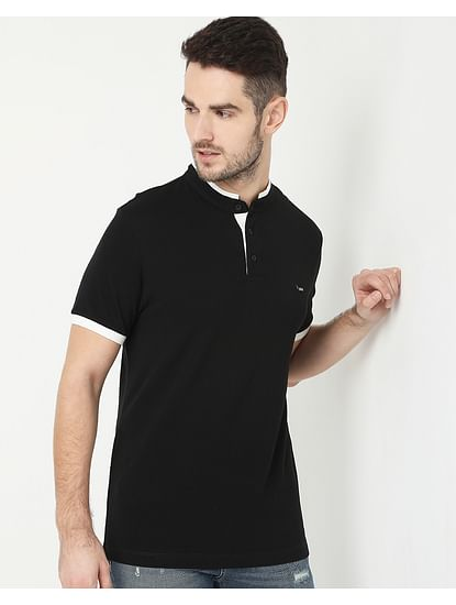 Men's Luke Basic Black Polo