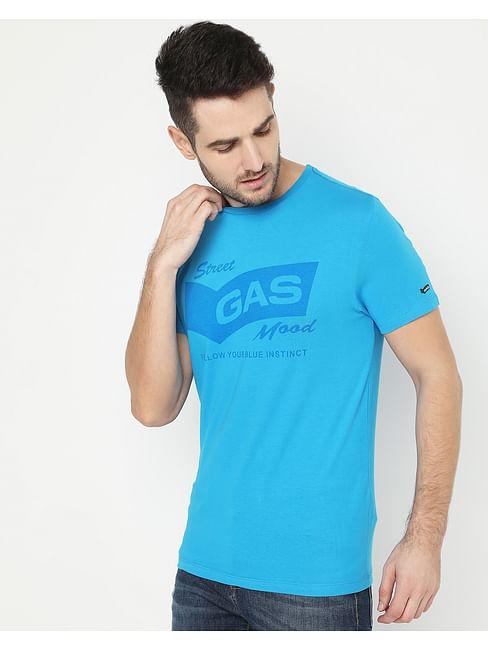 Men's Scuba Tone Turquoise Crew Neck T-Shirt