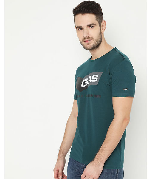 Men's Scuba Green Crew Neck T-Shirt