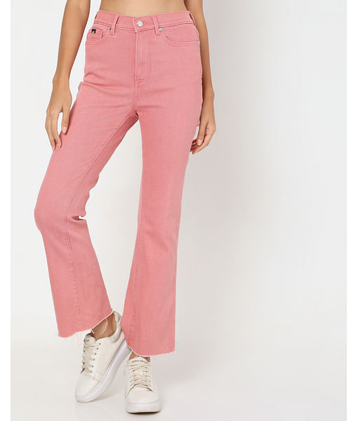 Women's Coral In Wide Jeans