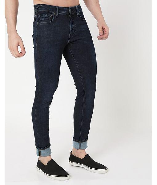 Men's Sax Zip Skinny Fit Jeans