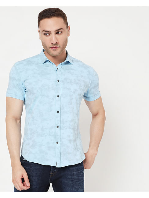 Men's Knit Shirt In Slim Fit Shirt