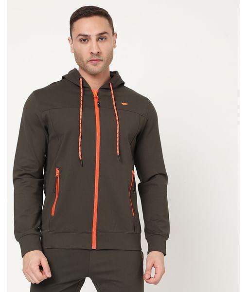 Men's Zippo Hood Fluo In Slim Fit Sweatshirt