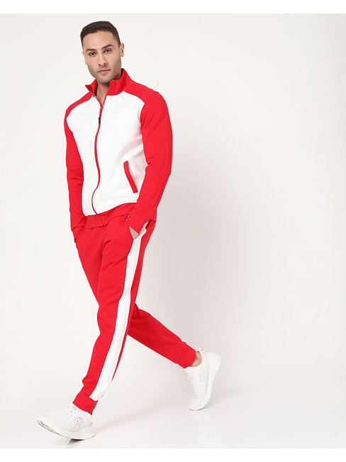 Men's Radar Contrast In Slim Fit Trackpants