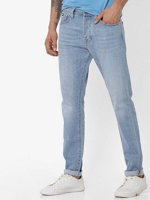Men's Norton Carrot Fit Light Blue Jeans