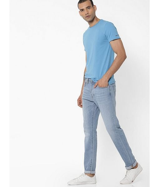 Men's Norton Carrot Fit Light Blue Jeans